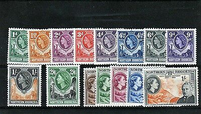 NORTHERN RHODESIA QE2 values as scan good-mainly fine mint/MH