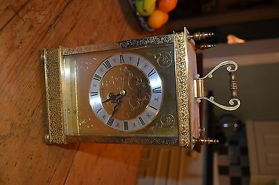 brass cased carriage clock by junghans for repair