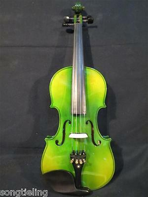 Professional Green colors electric & acoustic violin 4/4 #8566