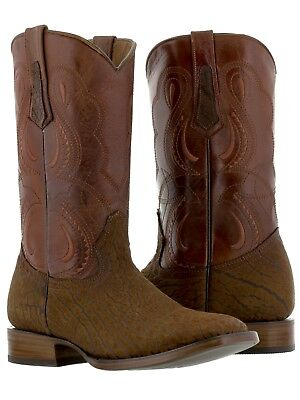 Mens Cognac Lizard Cowboy Boots Leather Pattern Western Pointed Toe