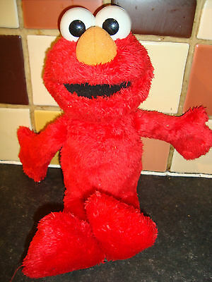 """Vintage Hasbro 14"""" Seasame Street Tickle Time  Elmo Charachter Working Rare"""