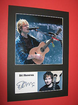 Ed Sheeran A4 Photo Mount Signed Autograph Reprint + Loose Change X One Take