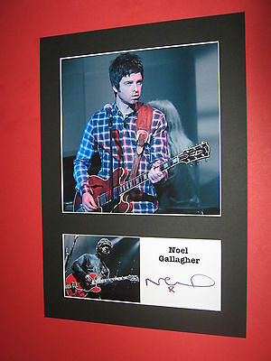 Noel Gallagher A4 Photo Mount Signed Printed Autograph Oasis High Flying Birds