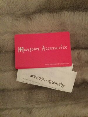 Monsoon Accessorize Merchandise Return Card Gift £49.00 With Receipt, Signed P&p