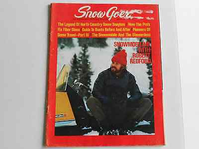 Snow Goer vintage snowmobile magazine March 1971 issue Raider Twin Track ad