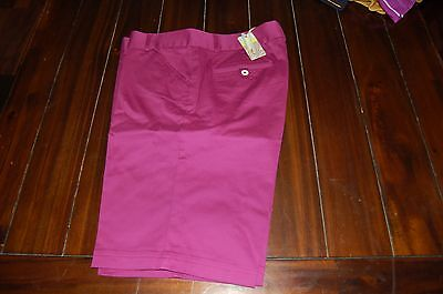 Women's Peter Millar Purple Golf Shorts Size 14 New with Tags