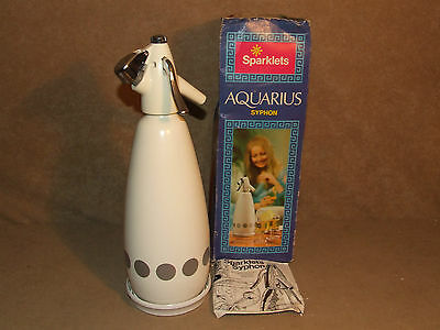 Sparklets Aquarius Soda Syphon Boxed With Base And Instructions Vintage