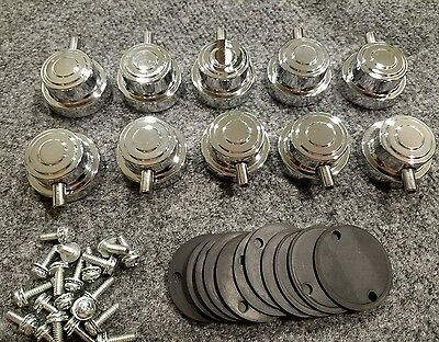 Dw Drum Workshop 10 Chrome Collector's Series Tom/deep Snare Lugs. Complete