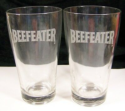 Set of 2 Beefeater Gin Beer Drink Collins Water Glasses