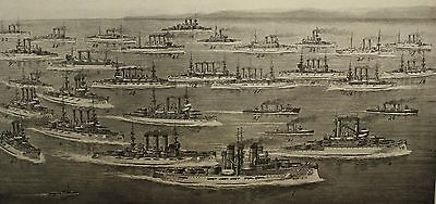 Antique 1906 Print Of United States Navy Usn Types Of Vessels With Names