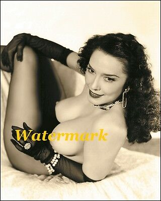 Evelyn West 1950s Sitting Very Large breasts-Pinup Girl, Burlesque Dancer-Photo
