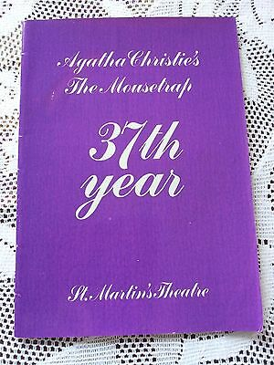 """AGATHA CHRISTIE'S """"THE MOUSETRAP"""" (37th YEAR) Program 1989"""