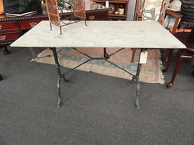French Style Pastry Table - Iron with Granite Top