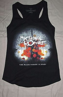 THE BLACK PARADE IS DEAD! MCR My Chemical Romance Black Tank top, Women's Small