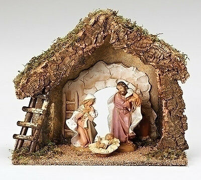 7.5 Inch Scale Fontanini Italian Nativity Stable Only 50850