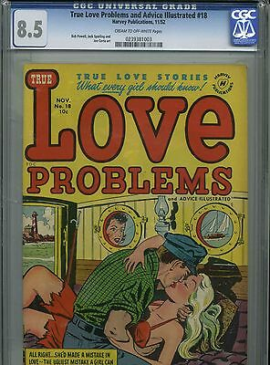 True Love Problems and Advice Illustrated #18 - November 1952 - CGC 8.5