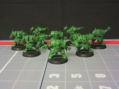 New Orc Blood Bowl Team 8 Players Games Workshop Orcs 2 Throwers 6 Linemen