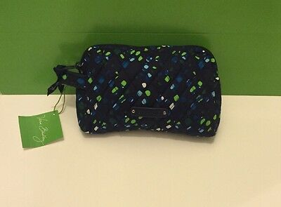 NWT Vera Bradley Travel SMALL Cosmetic Bag In  Ink Spots