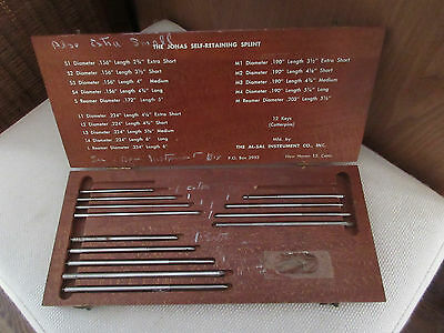 Vintage Jonas Self Retaining Splints In Wooden Case