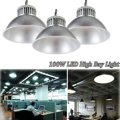 3X 100W LED High Bay Lights Warehouse Commercial Office Ligthing Industries Lamp