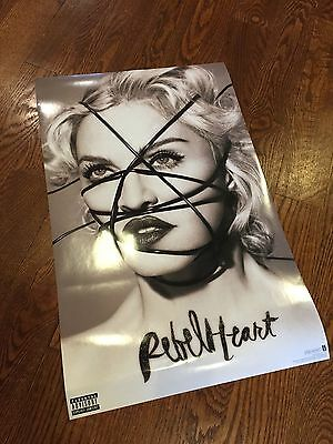 Madonna Rebel Heart TWO Posters Rare Living For Love Promo