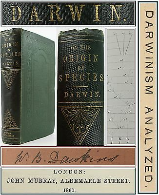 CHARLES DARWIN*THE ORIGIN OF SPECIES*1860*2nd EDITION*EVOLUTION-NATURAL HISTORY