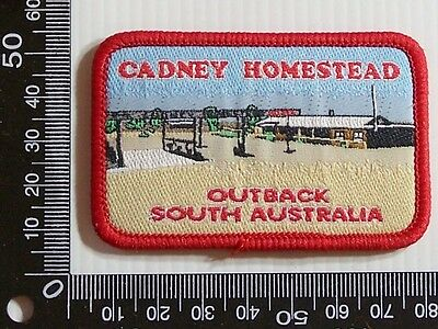 Vintage Cadney Homestead Sa Embroidered Souvenir Patch Woven Cloth Sew-On Badge
