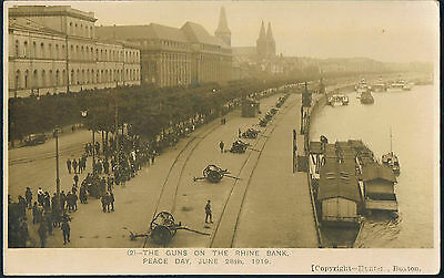 Postcard The Guns On The Rhine Peace Day June 28Th 1919