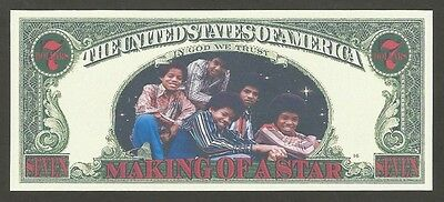 2009 Michael Jackson King Of Pop- Making Of A Star 7 Dollars Novelty Money