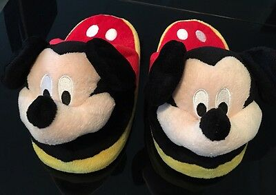 Older Children's Size 1-2 Mickey Mouse Stompies Slippers