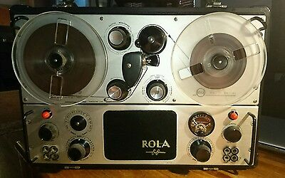 ∎ 1960's Vintage Rola  Byer 66 MkII Reel to Reel Tape Professional Recorder Deck