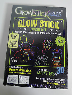 Glowstickables Glow Stick mask kit create masks monsters hats toys NISB 2009 OOP