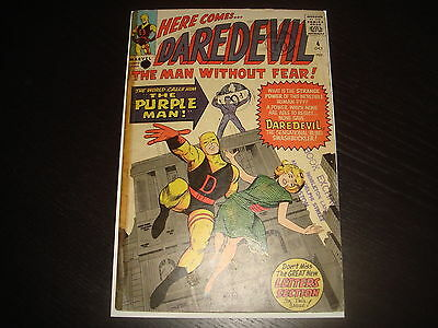 DAREDEVIL #4  1st Purple Man  Silver Age Marvel Comcs 1964 Low Grade GD Cheap!