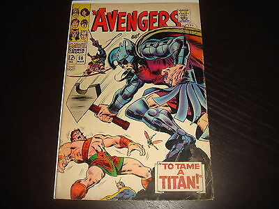 THE AVENGERS #50   Silver Age Marvel Comics 1968 A strong VG+