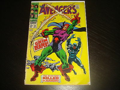 THE AVENGERS #52   Silver Age Marvel Comics 1968 GD Low Grade
