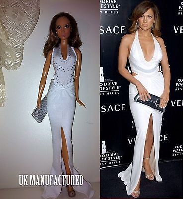 Sexy  Celebrity J Lo white jersey Outfit For Barbie Limited Edition