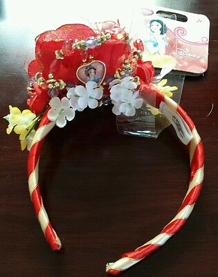 DISNEY Princess Snow white costume tiara crown headpiece, Halloween NEW
