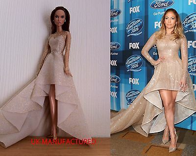 Celebrity,Gold Dress For Barbie