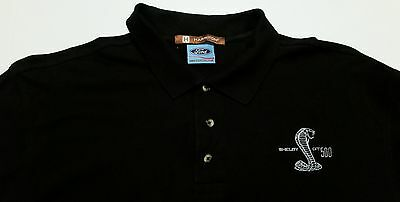 Ford Shelby Cobra GT500 Muscle Car Embroidered Polo Men's XL Shirt