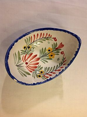 Quimper Pottery Avocado Shaped (and Sized) Bowl