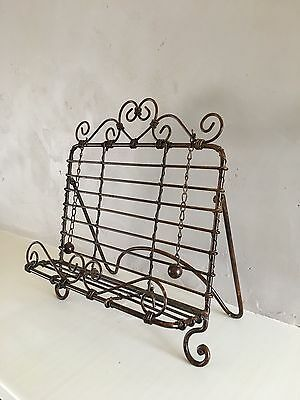 French-style metal cookbook holder