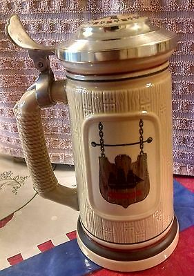 """Avon The Building Of America Stein Collection """"the Shipbuilder""""  1986 Numbered"""