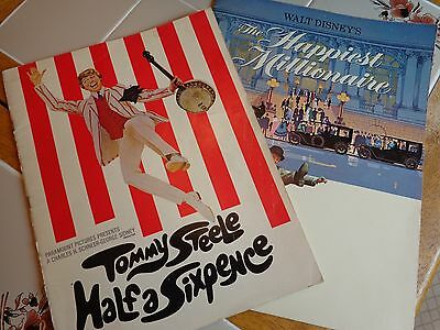 2 Tommy Steele Movie Souvenir Book Happiest Millionaire Half a Sixpence Booklet