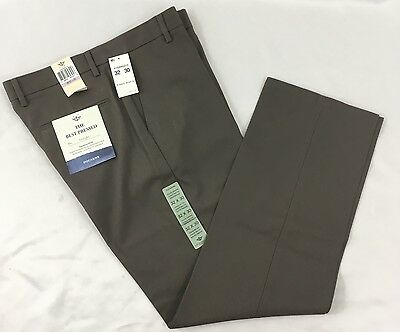 Dockers Men's Classic Khaki Pants Best Pressed Straight Taupe Waist 32 Length 30
