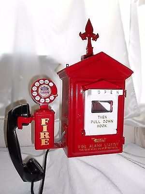 Gamewell Fire Alarm Call Box Telephone Antique Phone Police Sheriff Restored Old