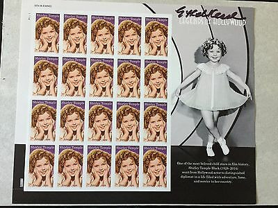 2016 Shirley Temple Stamp  Full Pane of 20 *Signed* at World Stamp Show