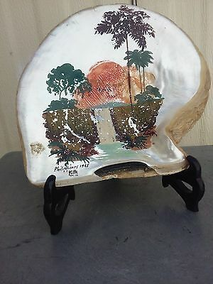 1945 painting on old shell with stents