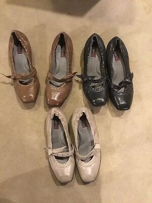 Born Crown Lot Of 3 Mary Jane Shoes Sz 6 - Brown, Gray, Black