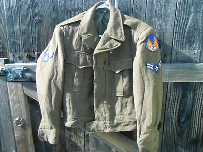 POST WW2 US ARMY AIR FORCE uniform IKE jacket 36 1946 patches transitional