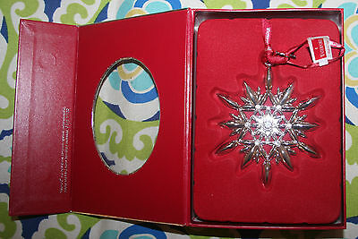 Waterford 2011 Annual Silvertone Snowflake Ornament #155533